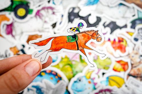 Racehorse Sticker