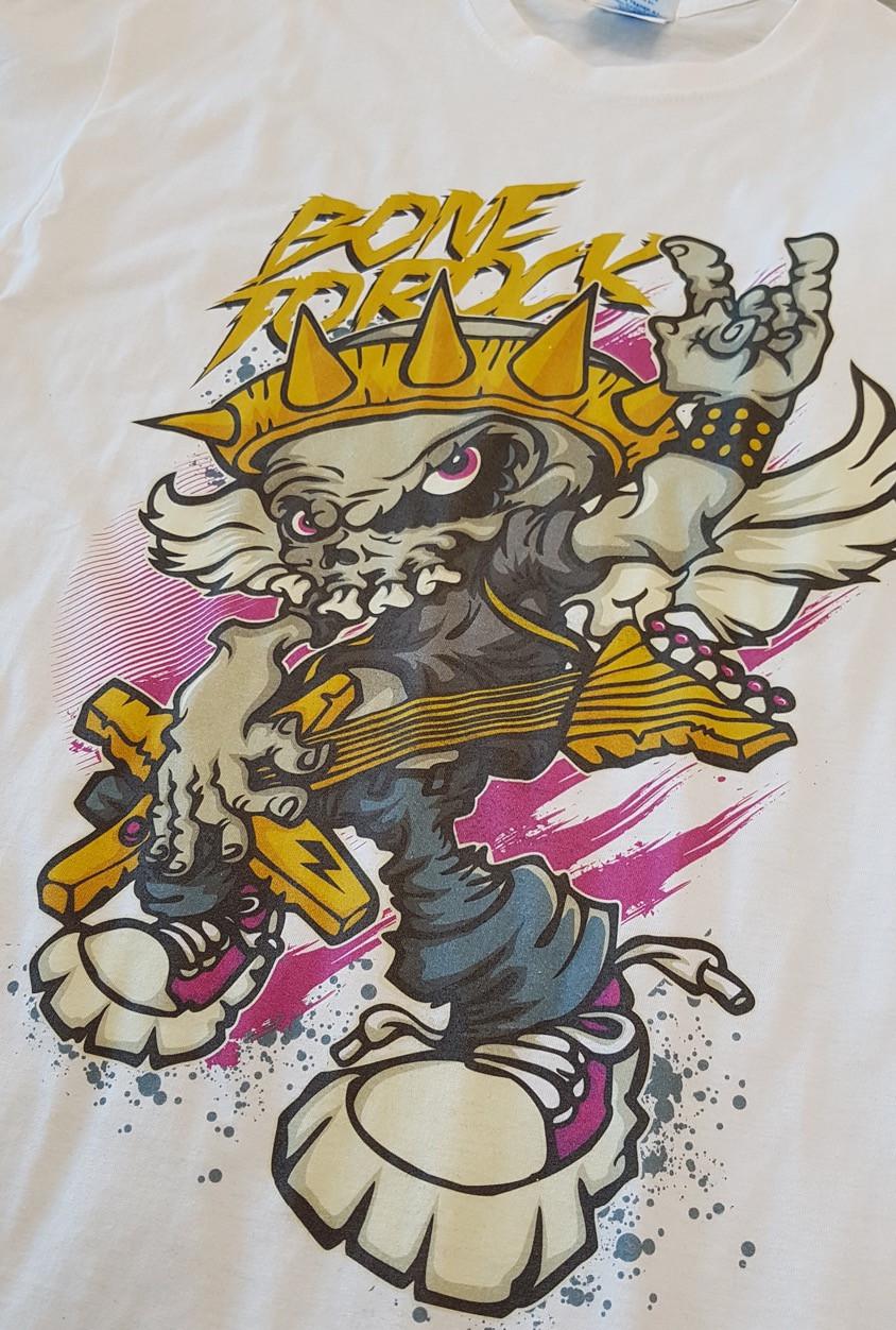 Stampa DTG su t-shirt bianca