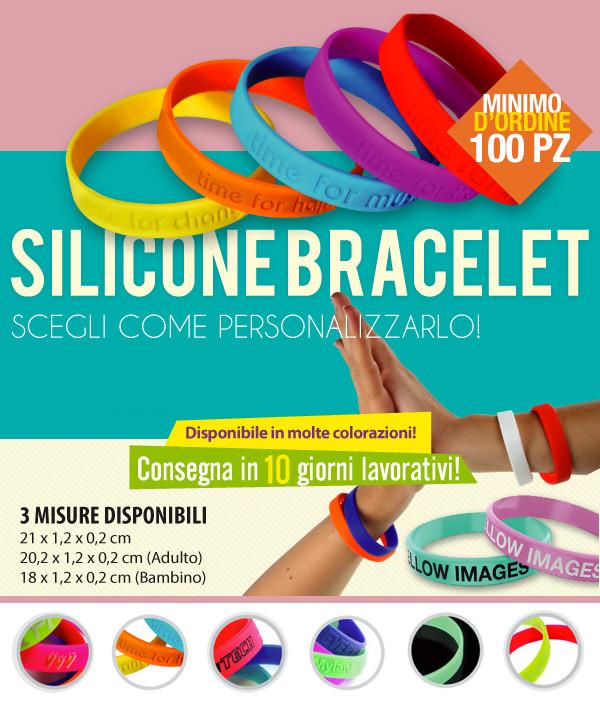 braccialetti in silicone