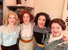 The talented ladies in ENTER LAUGHING at The York Theater off broadway, 2019