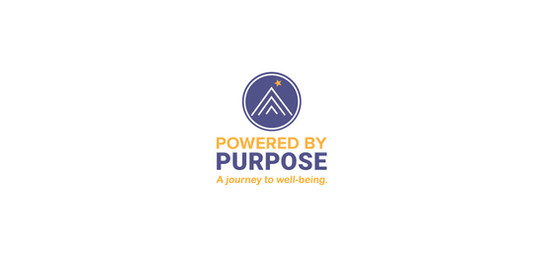 Powered by Purpose Logo and Positioning Line