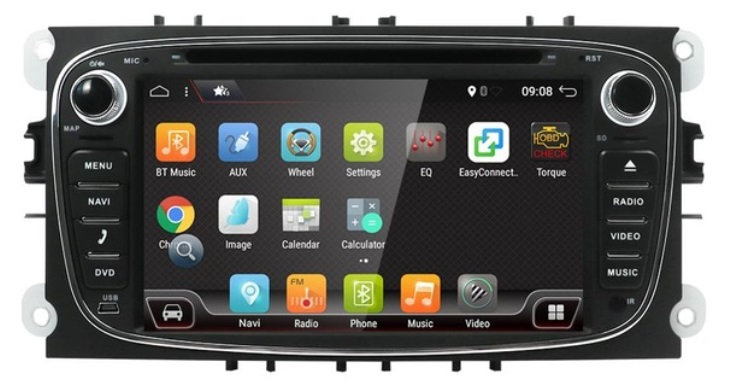 RADIO 2 Din ANDROID FORD FOCUS MONDEO GALAXY WIFI PX6