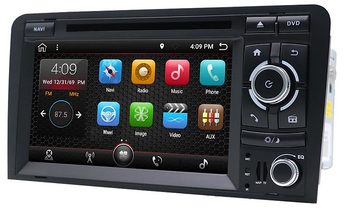 RADIO 2 DIN ANDROID AUDI A3 8P S3 2GB RAM LTE