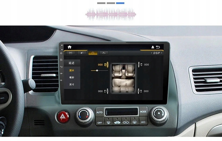 RADIO 2 DIN ANDROID 10 CALI HONDA CIVIC 2006-2011 4GB DSP