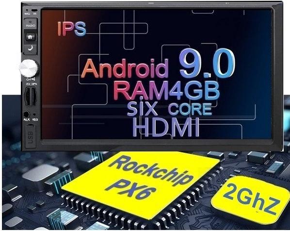 RADIO SAMOCHODOWE 2 DIN WIFI 4GB/64GB ANDROID HDMI P93