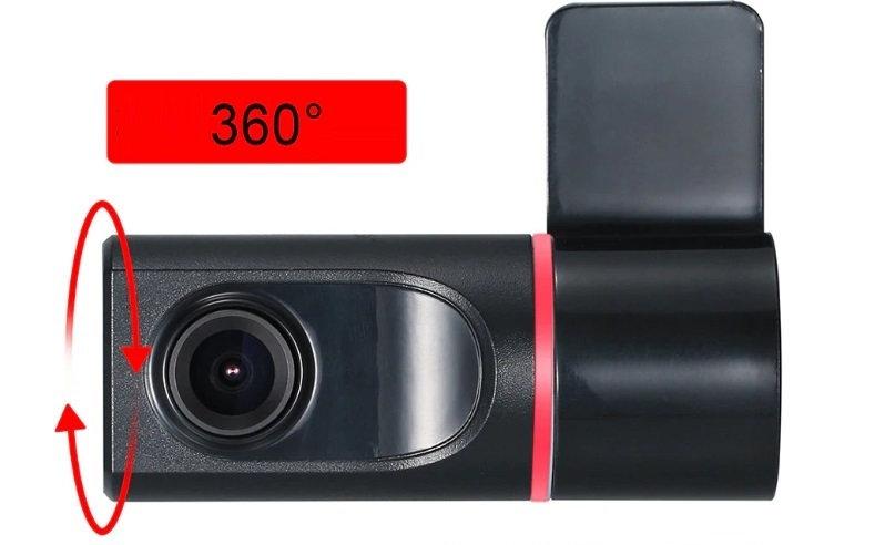 Rejestrator samochodowy DVR obrotowy 360 stopni