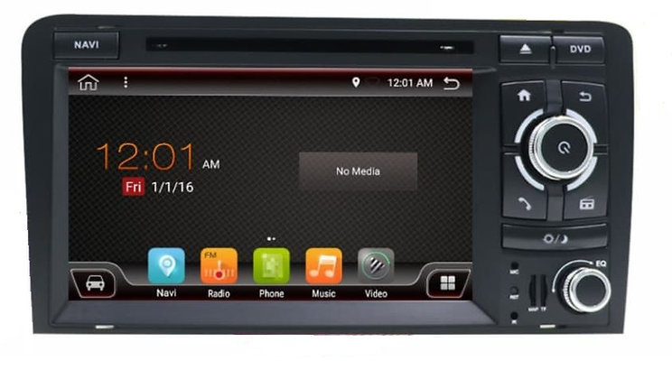RADIO 2 DIN ANDROID AUDI A3 8P S3 4GB RAM LTE