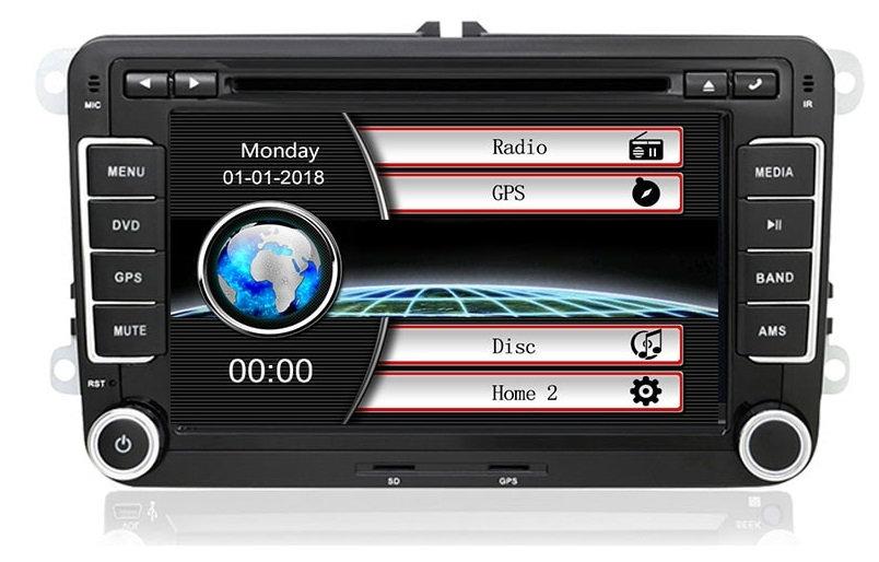 RADIO 2 DIN WINDOWS VW GOLF V VI 5 6 PASSAT B6 B7