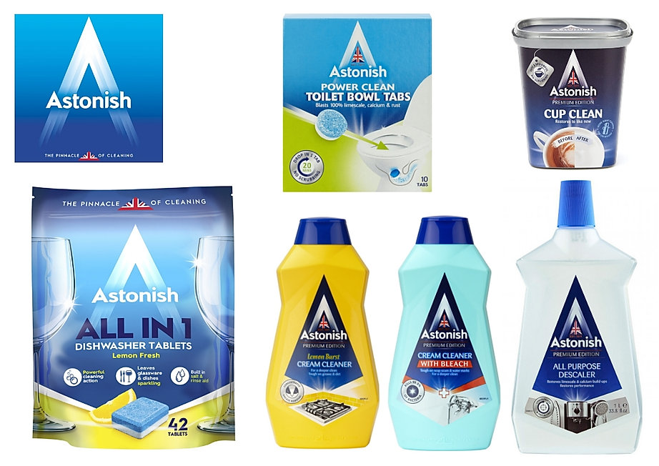Astonish Creams, Liquids & Tablet Range.