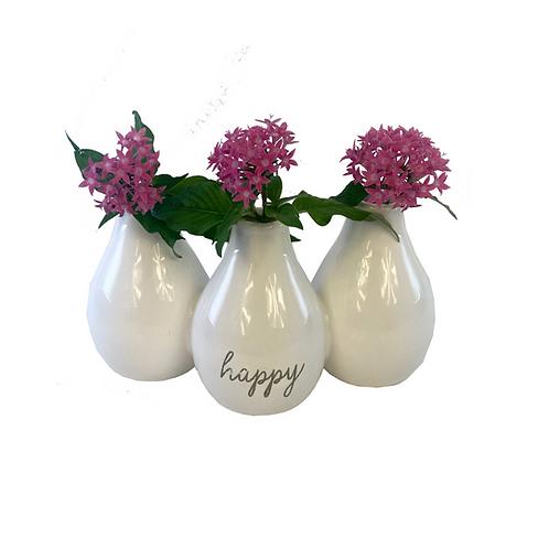 Happy Triple Vase