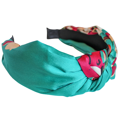 Teal Frida Floral Headband