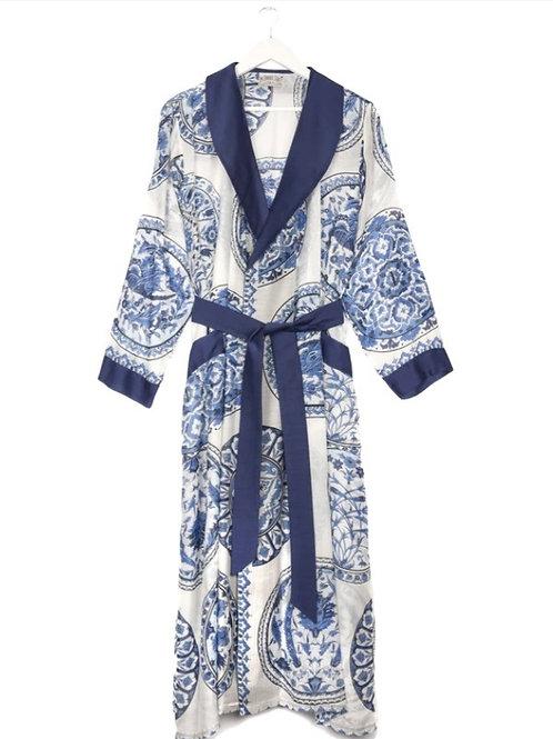 Blue China Plates Kimono