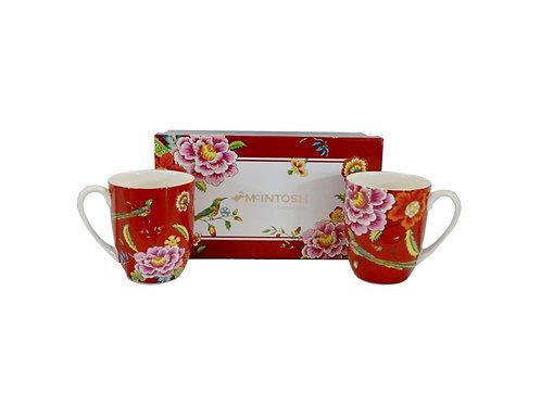 Tea For 2 Asian Pheasant Fine Bone China Mug Pair