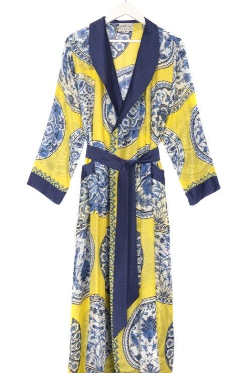 Yellow China Plates Kimono