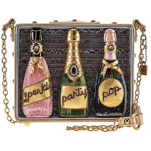 Mary Frances Sparkling Champagne Beaded Crossbody