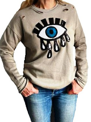 Tearful Evil Eye Sweatshirt