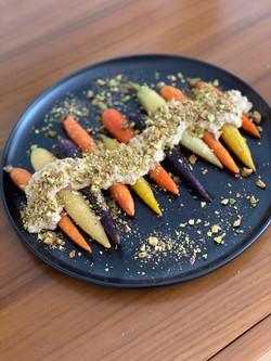 Zanahorias con crema de nuez de la India