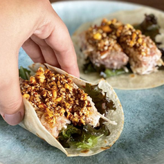 Tacos de atún al coco de Sal de Amores