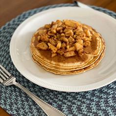 Apple Cinnamon Cheerio Pancakes