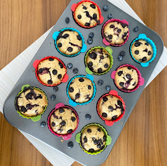 Muffins Veganos de Blueberries