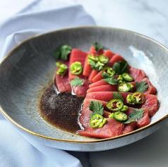 Sashimi de atún con salsa de aguacate 🥑✨