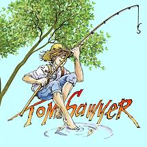 Tom Sawyer & Schrift pastellblau Baum.pn