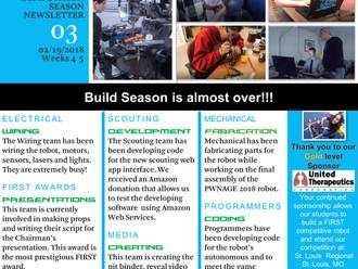 PWNAGE Build Season Newsletter #3