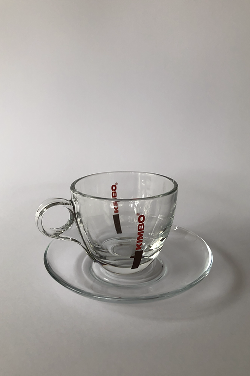 Caffè Kimbo Cappuccino Glass and Saucer
