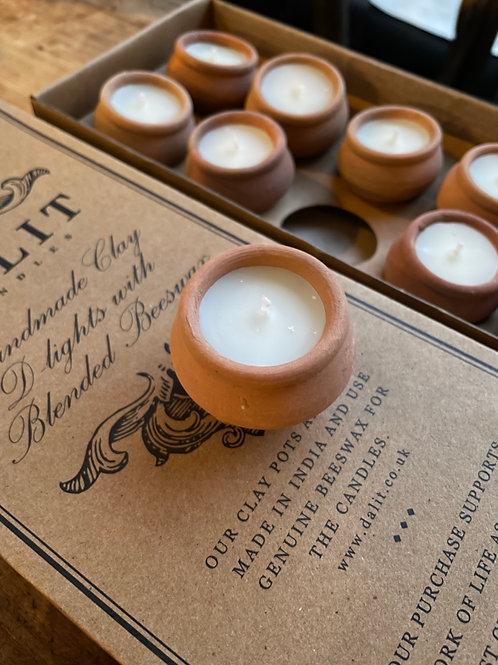 Dalit Handmade Beeswax Candles set of 3