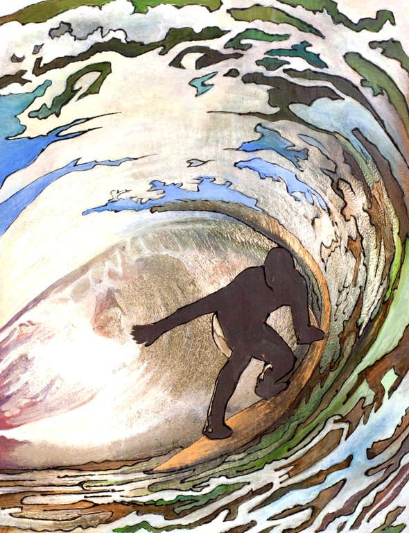 "The Surfer - 12"" x 9"" x 1"" (30 x 23 x 2cm)"