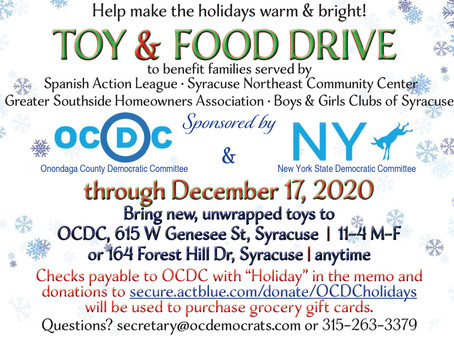 Toy & Food Drive through December 17th