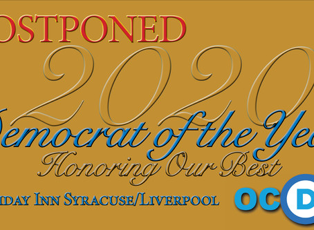POSTPONED - 2020 Democrat of the Year Awards Dinner & Reception