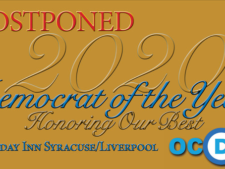 POSTPONED - 2020 Democrat of the Year Awards Dinner & Reception
