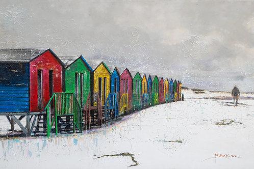 2m x 1m Canvas of Muizenberg Beach