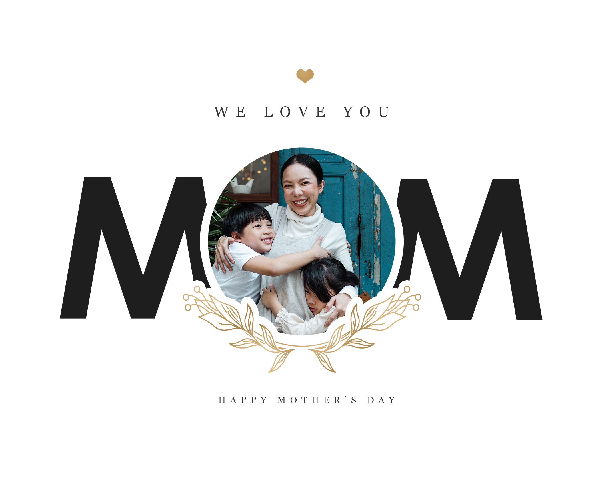 MOM Mother's Day Print - White