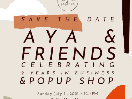 AYA Paper Co. Announces Pop Up Event for Two Year Anniversary Celebration