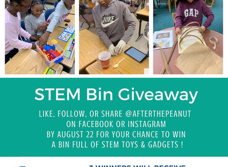After The Peanut Does It Again - STEM BIN GIVEAWAY