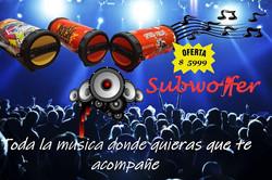 Parlante Portatil Bluetooth Subwoofer Bazooka Oneplus 8341