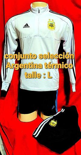 conjunto seleccion Argentina termico talle l