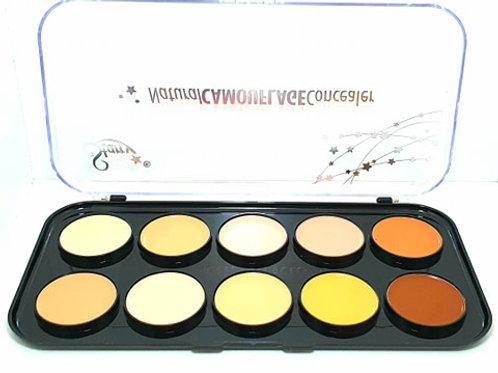 Paleta 10 Contorno Correctores Maquillaje Profesional