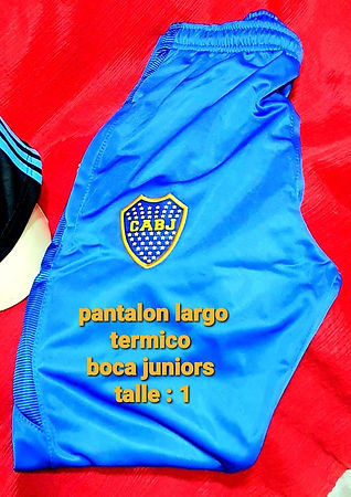 Pantalon largo termico boca juniors