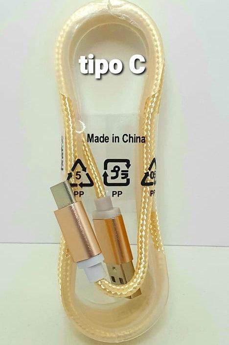 Cable cargador tipo C