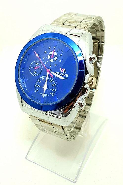Relojes para hombre malla metal plateada