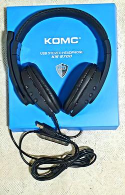 Audifonos Con Microfono Komc Km_9700 Con Puerto Usb