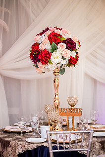 Atlantis Banquet Hall table decoration for wedding, sweet 16 or decoration