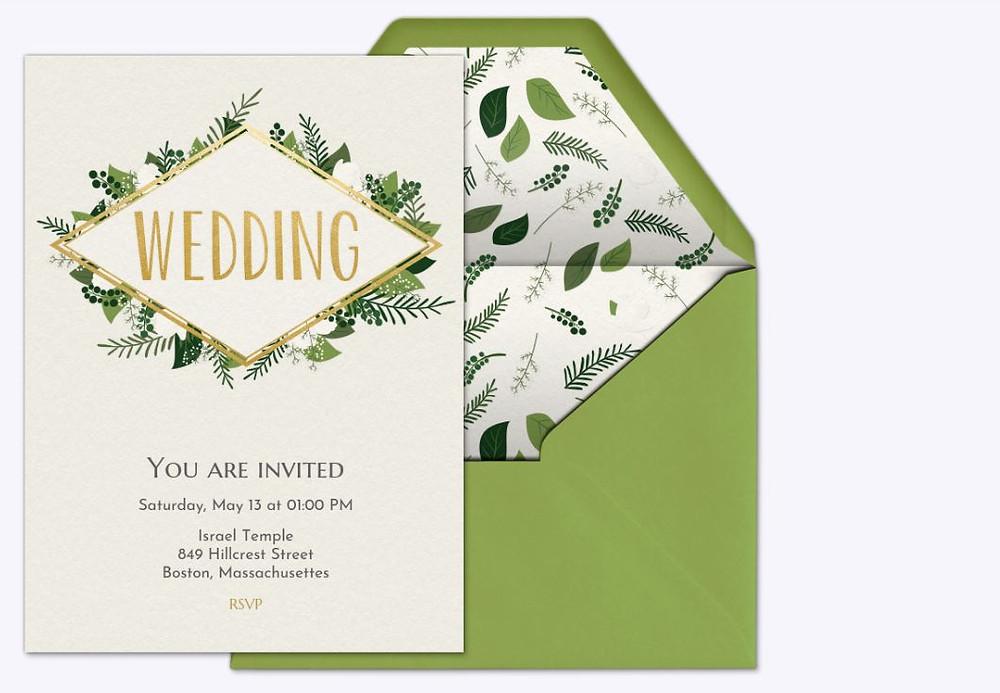 Electronic wedding invitation