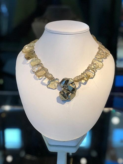 Quartz and Pyrite Necklace