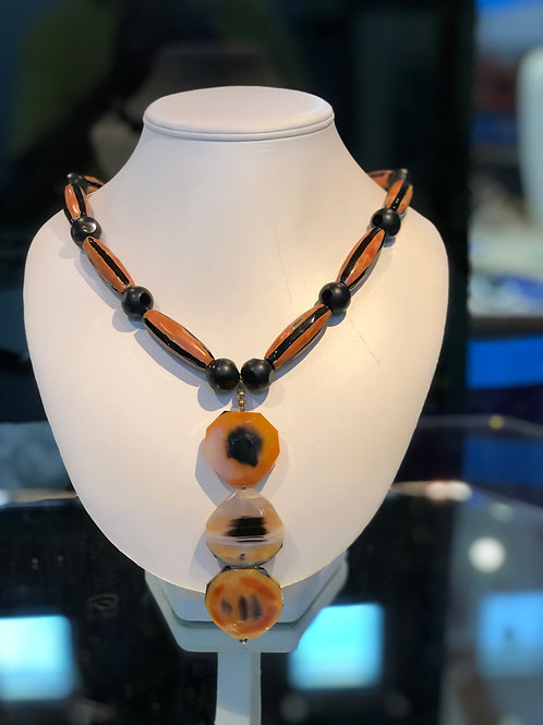 Quartz and Agate Necklace