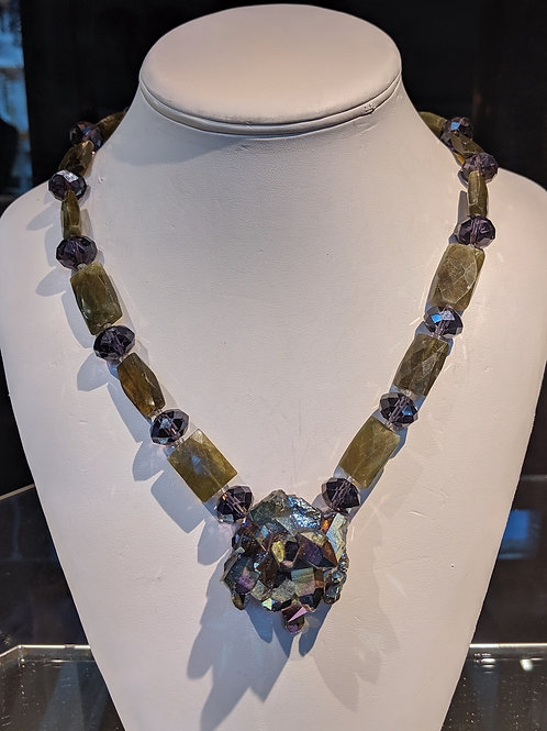 Titanium Amethyst Necklace