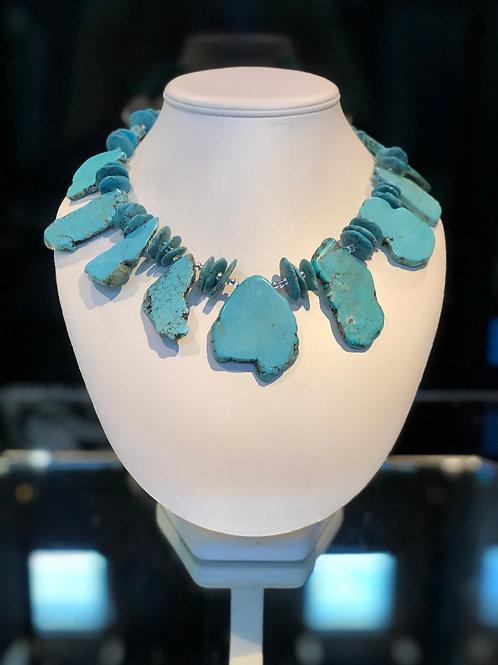 Slab Turquoise Necklace